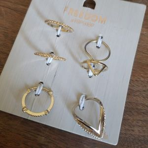 Freedom Topshop ring set
